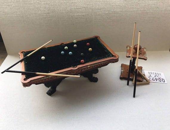 1 2 Or 24 Scale Miniature Bespaq Pool Table Set