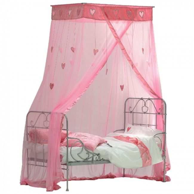 Taftan klamboe hartjes rayon roze klamboes kinderen klamboe pinterest klamboe roze en - Baldachin kinderzimmer ...
