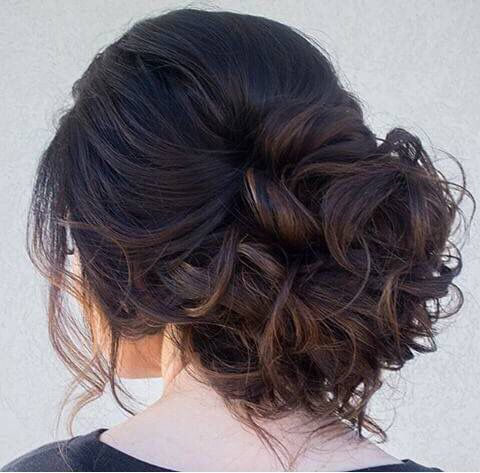 wedding hair styles beautiful curled wedding or special occasion updo 6298