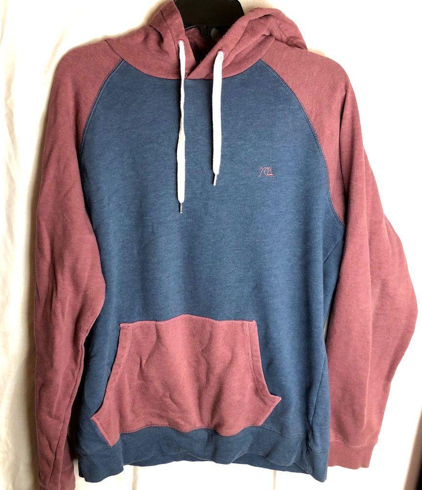 f28de9a1785 Quiksilver Pullover Hoodie Size XL Mens Blue Red Sweatshirt  Quiksilver   Hoodie