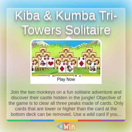 Join the two monkeys on a fun solitaire adventure and