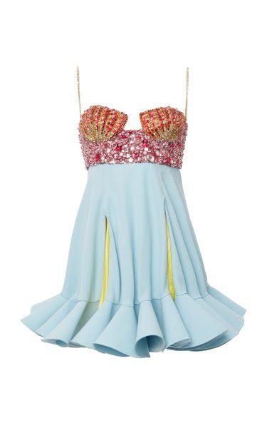 Crystal-Embellished Crepe Dress By Versace | Moda