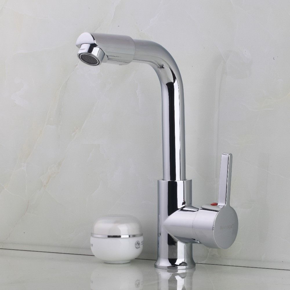 Buy Hot Brass Chrome Finish Bathroom Basin Faucet Hot Cold Water ...