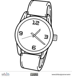 Armbanduhr ausmalbild  Armbanduhr | Ido | Pinterest | Armbanduhren und Bilddatenbank