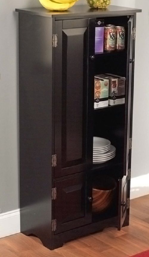 Free Standing Kitchen Pantry Cabinet With Doors Storage Ideas For