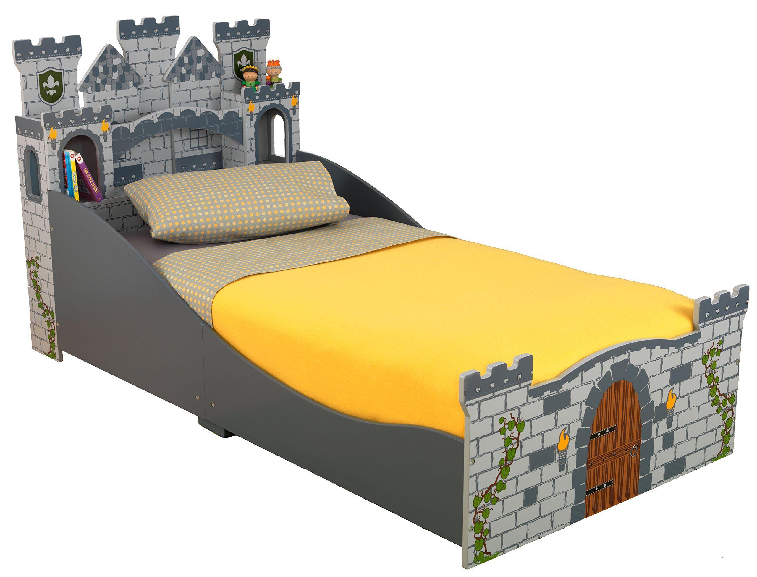AmazonSmile: KidKraft Boy's Medieval Castle Toddler Bed