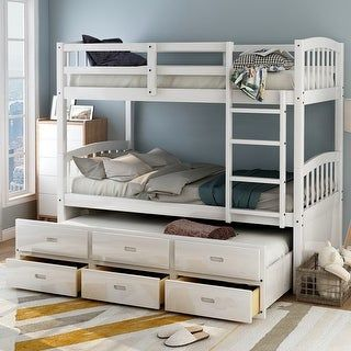 Overstock Com Online Shopping Bedding Furniture Electronics Jewelry Clothing More In 2021 Bunk Bed With Trundle Twin Bunk Beds Wood Bunk Beds Twin bunk bed with trundle