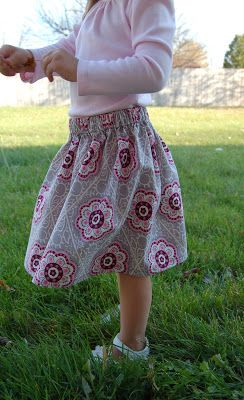 Double Stitching: A Simple Skirt for Fall