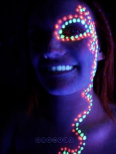 Pin By Ndf Makeup On Makeup1 Neon Face Paint Glow Face Paint Uv Face Paint