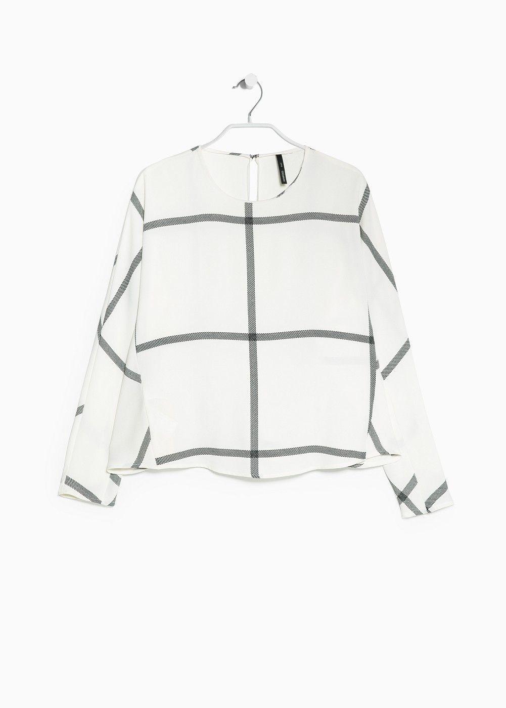 Check crepe blouse