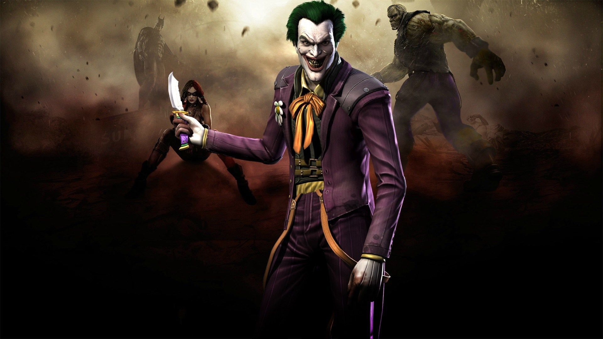 1920x1080 Injustice Gods Among Us Game Wallpaper Joker Wallpapers Batman Joker Wallpaper Joker