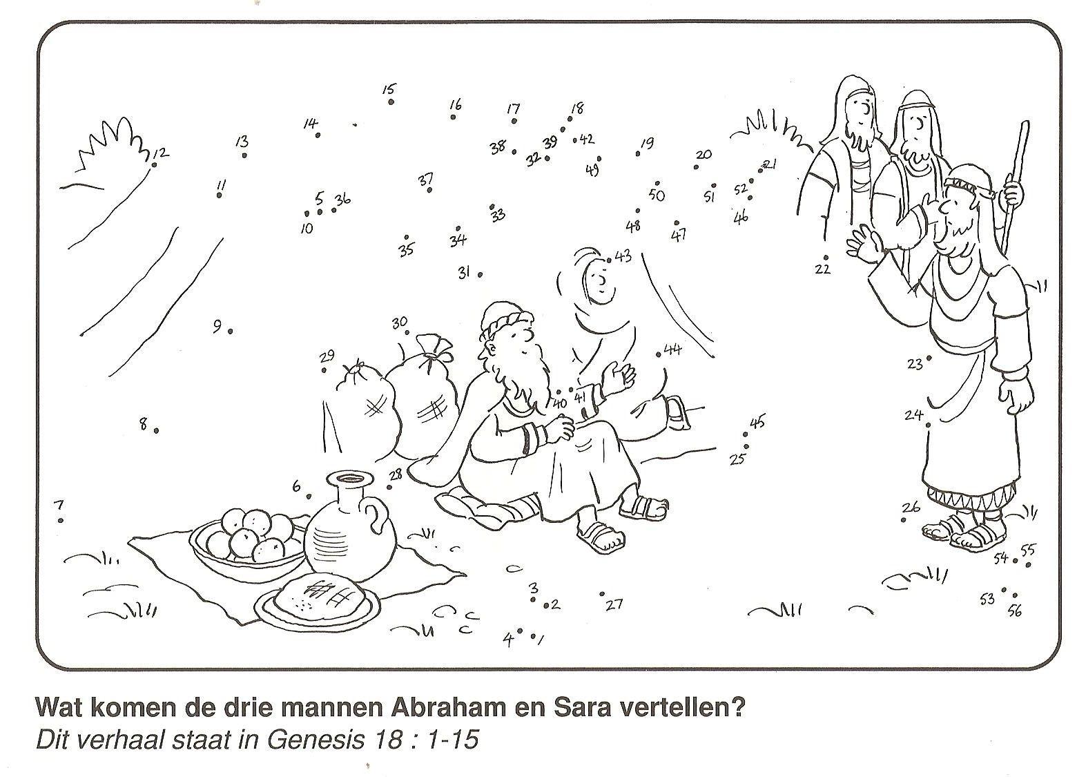 bezoek 3 mannen abraham en sara van stip naar stip