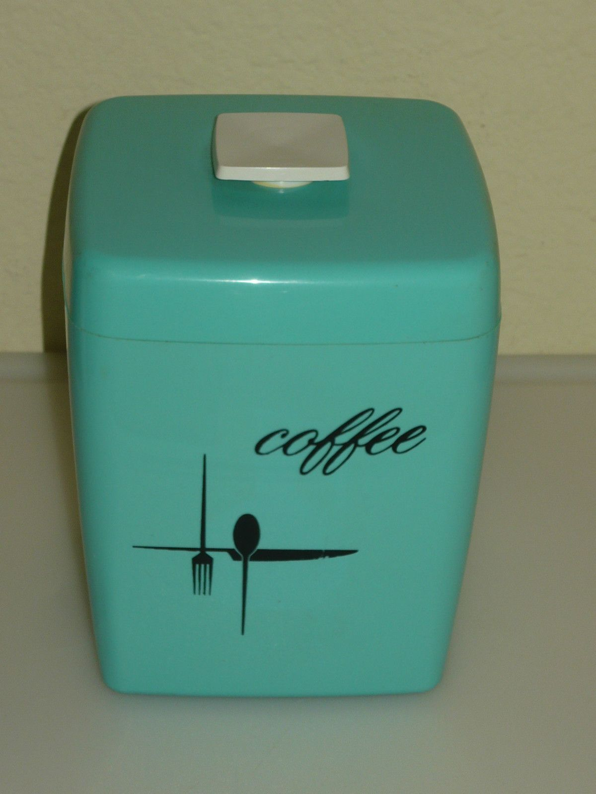 need this glasbake mug retro coffee cup i m going to feel vintage turquoise retro coffee canister plastic storage container ebay