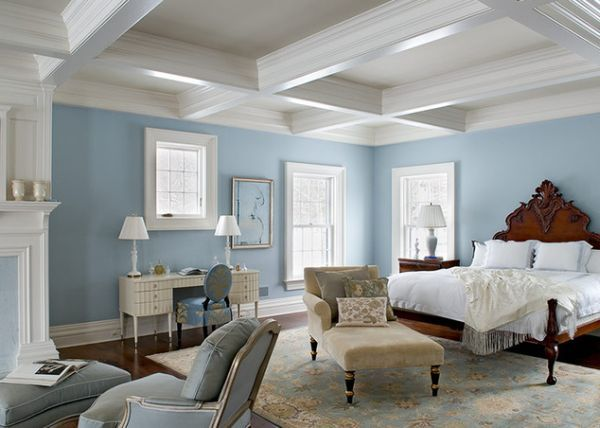 Ceiling Design Ideas Guranteed To Spice Up Your Home Blue Bedroom Decor Light Blue Bedroom Blue Master Bedroom