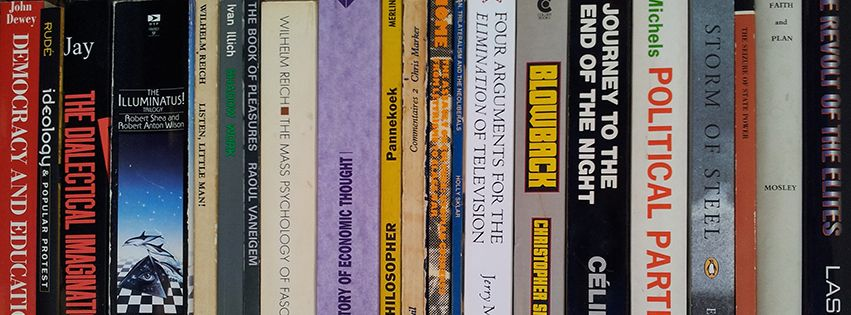 Politics, various, corridor shelf