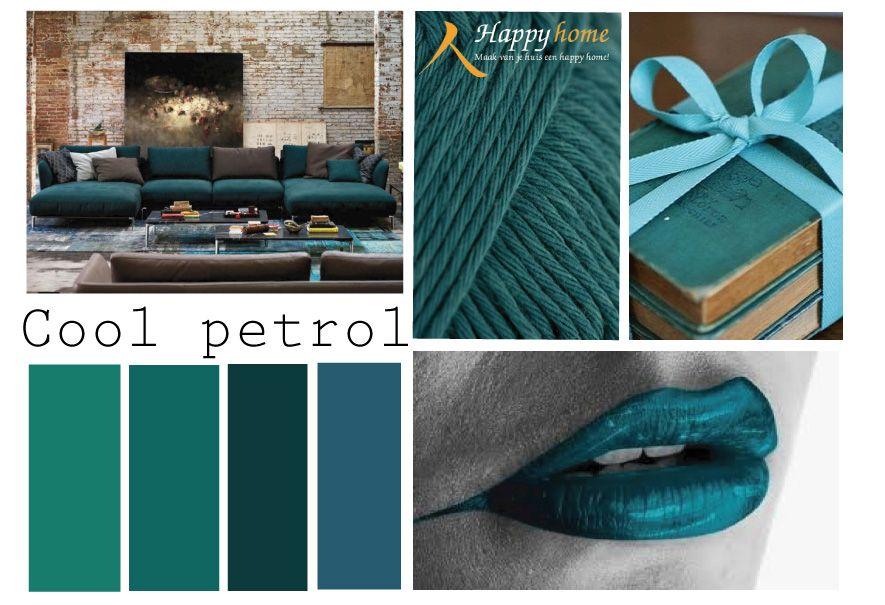 Cool petrol deze kleur doet het vooral goed in combinatie met verschillende bruin tinten om hem - Kleur warme kleur cool ...