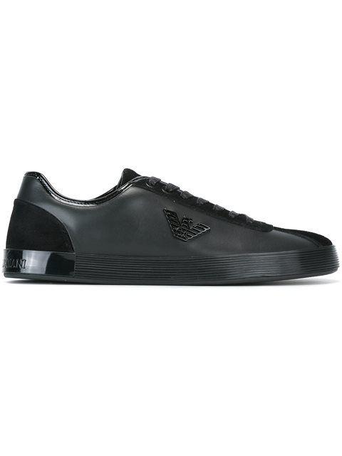 abf5856c EMPORIO ARMANI Metal Logo Sneakers. #emporioarmani #shoes #sneakers ...