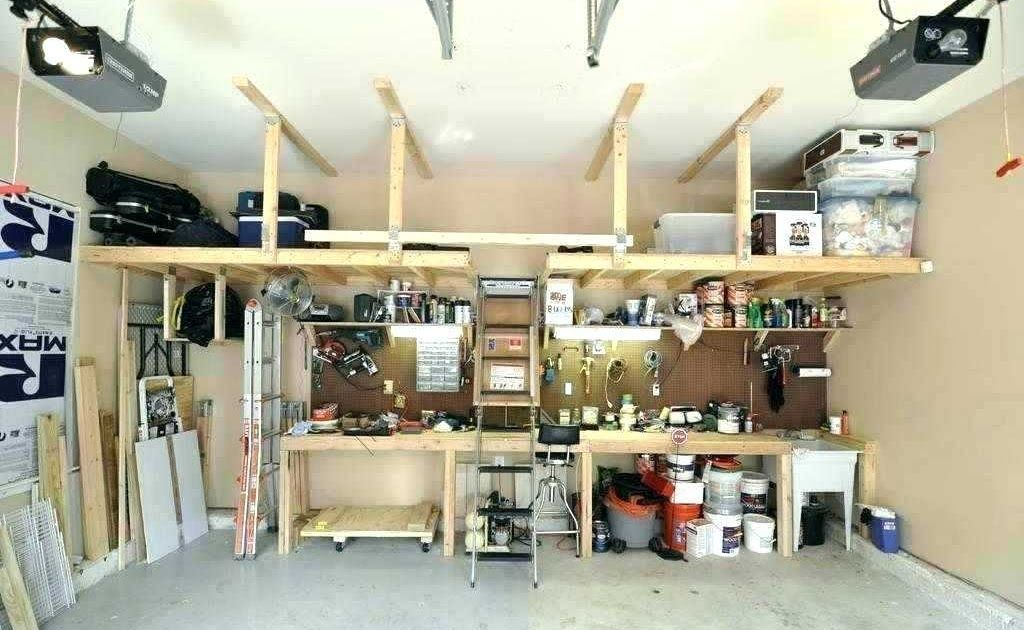 Garage Loft Storage Ideas Small New How To Build Tool Tool Organizing The Garage With Diy Pegboard Storage Wall Garagenwerkstatt Garagen Innen Deckenlagerung