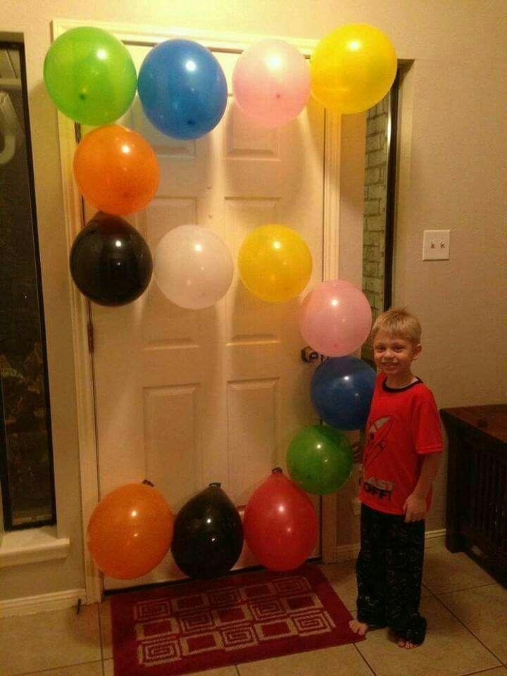 Une belle idée pour la décoration de fête avec Luftballoonas. Merci pour cela ... - Fitness GYM - #b...