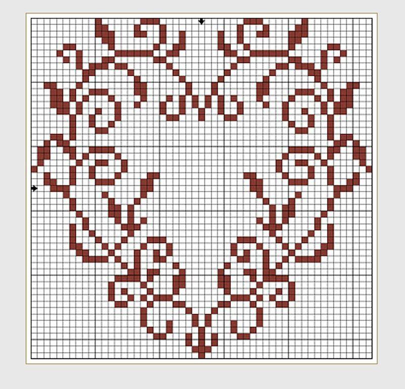 heart cross stitch cross stitch point de croix. Black Bedroom Furniture Sets. Home Design Ideas