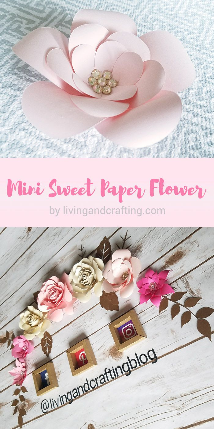 Diy mini sweet paper flower with free template blooming paper mini sweet paper flower pin mightylinksfo