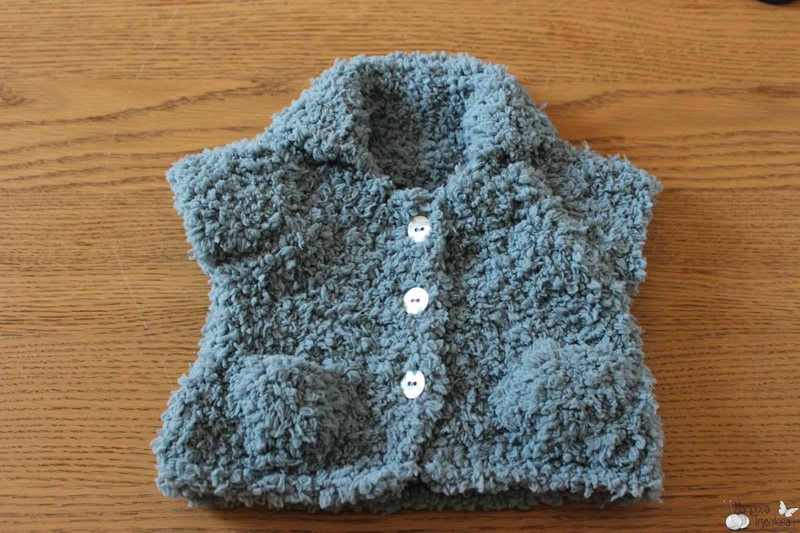 mariposa tricotosa: chaqueta bombón para bebé