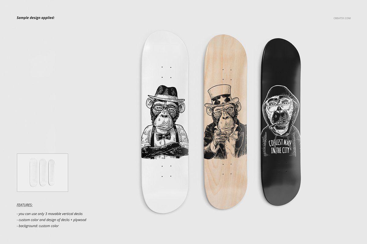 Skateboard Decks Wall Art Mockup Skateboard Icon Design Inspiration Skateboard Decks