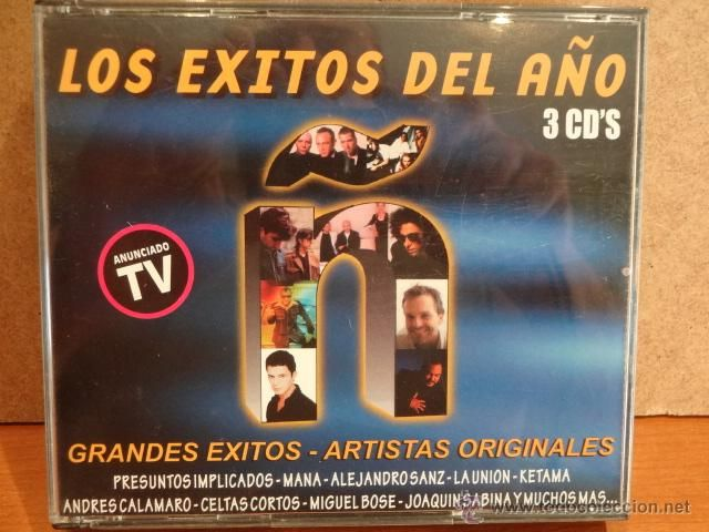 LOS EXITOS DEL AÑO. SERIE Ñ. 3 CD-BOX / DRO - 1999. 50 TEMAS. CALIDAD LUJO.