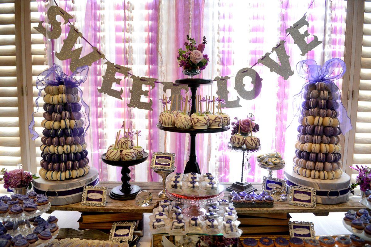 Wedding Table Wedding Dessert Table Decorations le petite chef purple sweet love wedding dessert table js table