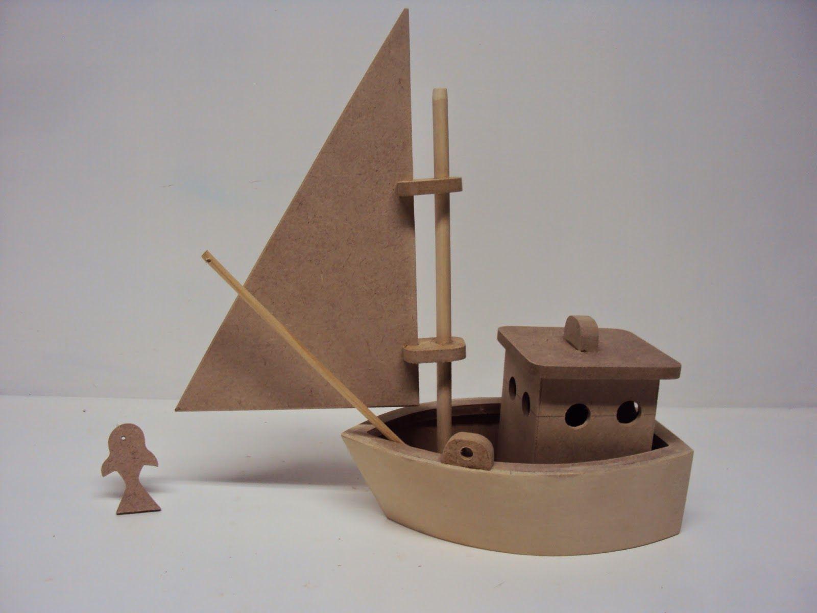 luartebaby artesanato barco mdf enfeite de mesa pescador