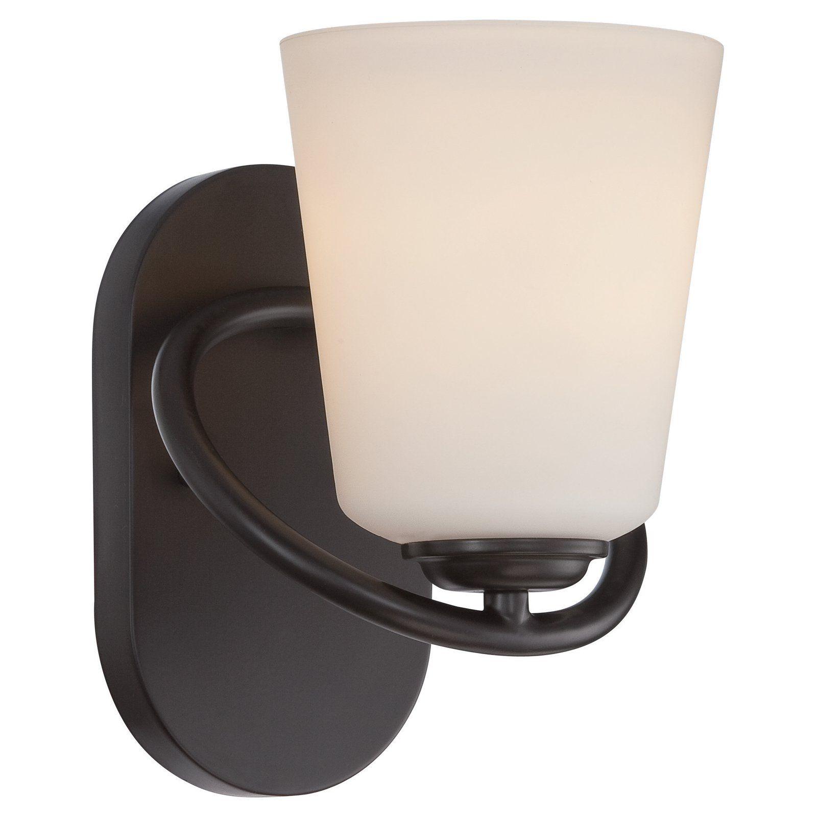 Photo of Nuvo 62/4 Dylan 1 light bathroom Vanity Light Mahogany bronze