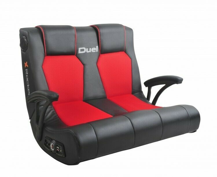 Gaming chair red head to head 2 seater rocker with 2