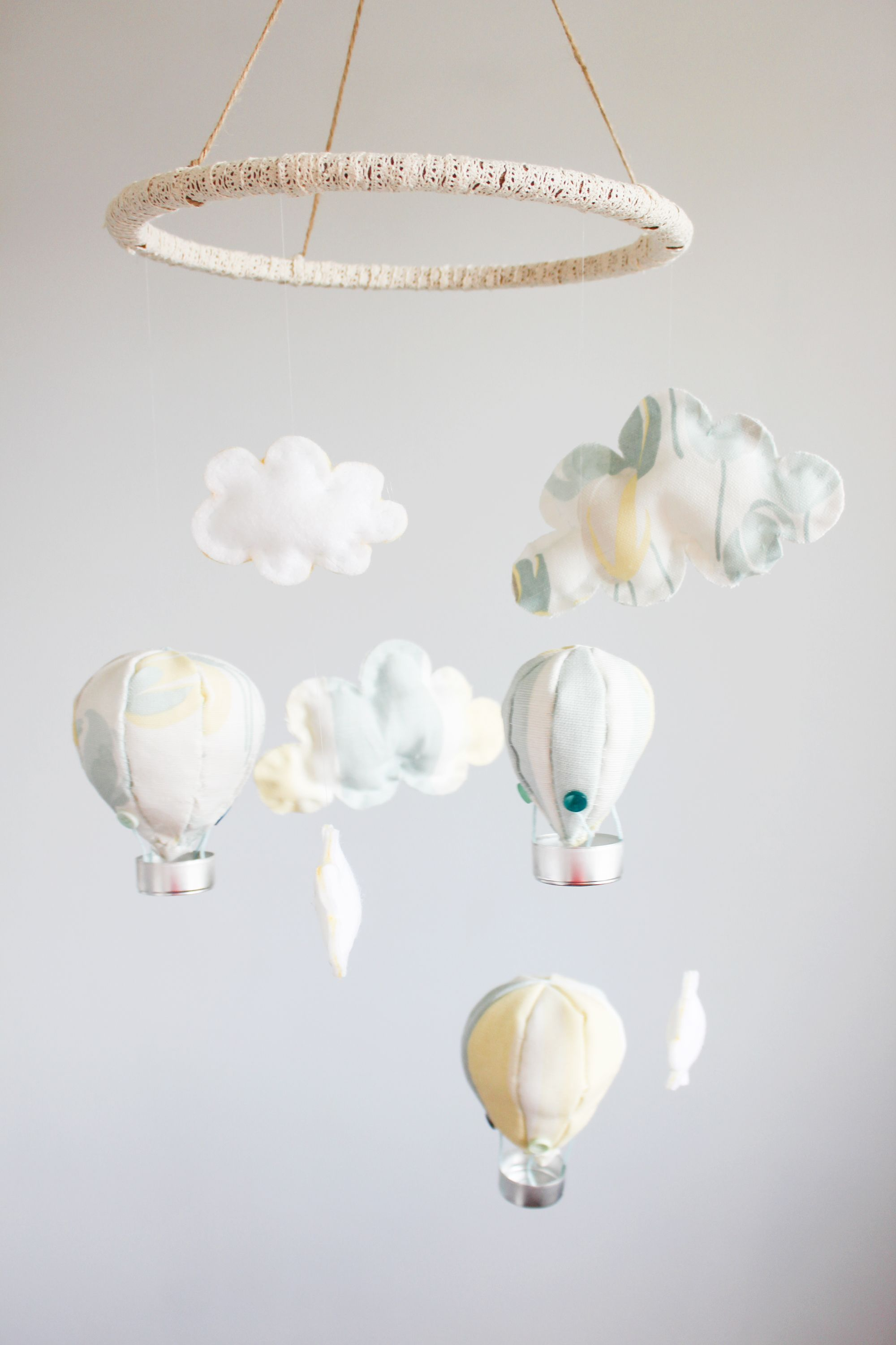 Find out how to make a hot air balloon mobile for your nursery or ...