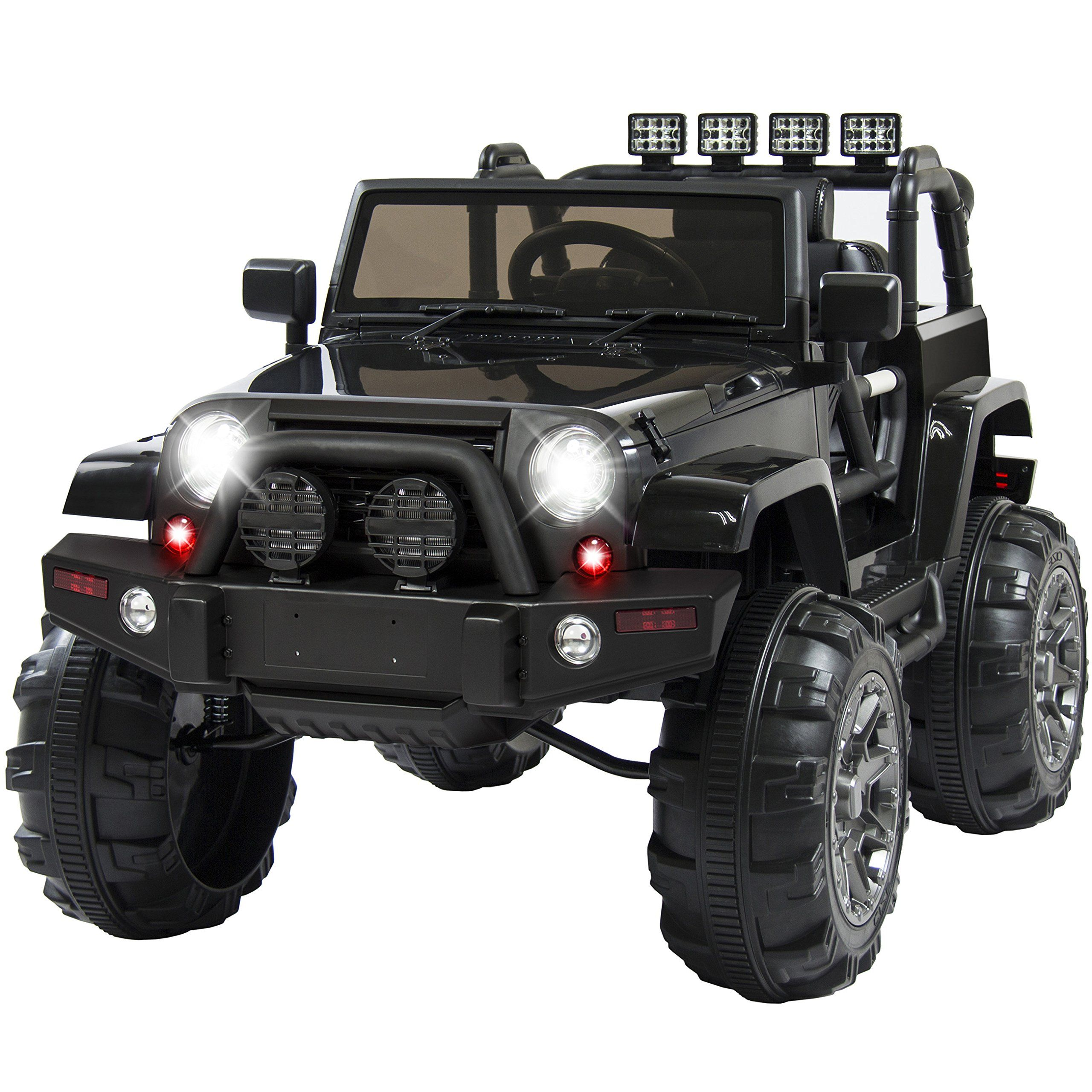 Best Choice Products 12v Ride On Car Truck W Remote Control 3 Speeds Spring Suspension Led Light Black Check Out Power Wheels Jeep Kids Ride On Power Wheels