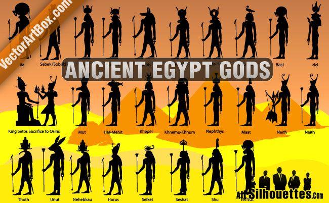 ancient egypt gods   FILES: SVG,PNG   Pinterest   Goddess names ...