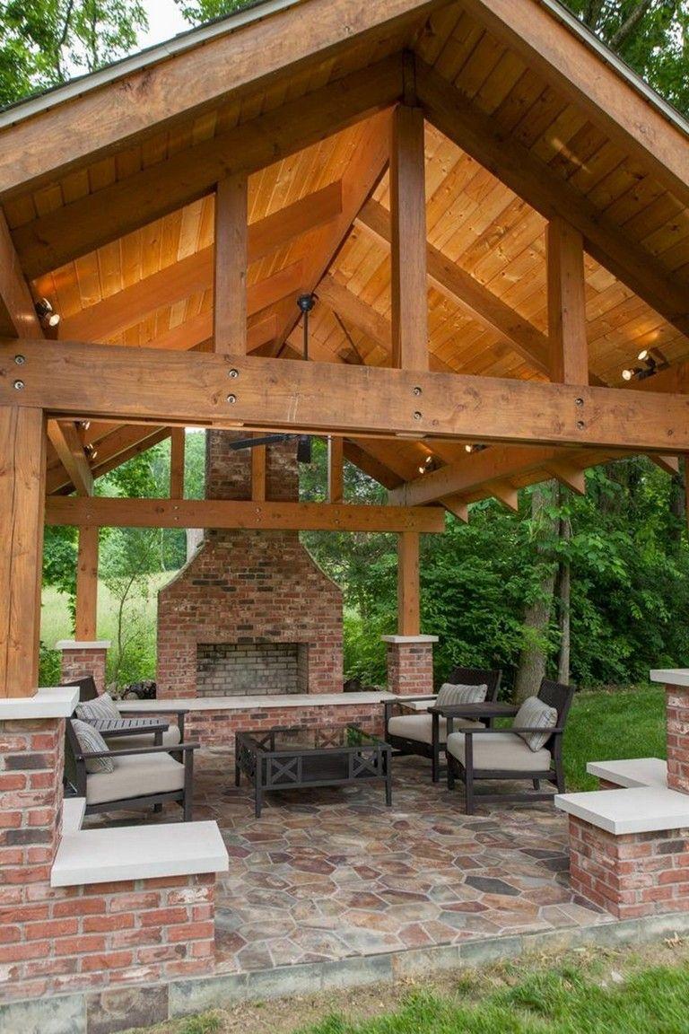 32 Stunning Outdoor Kitchen Pavilion Designs Ideas Med Bilder Skugga