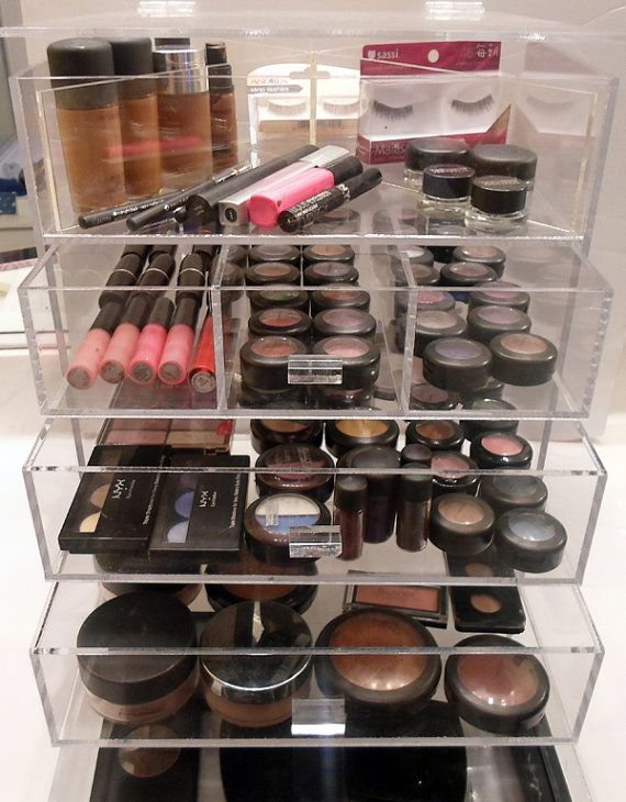 Clear Acrylic Makeup & Cosmetic Organizer by ClearMakeupOrganizer, $329.00