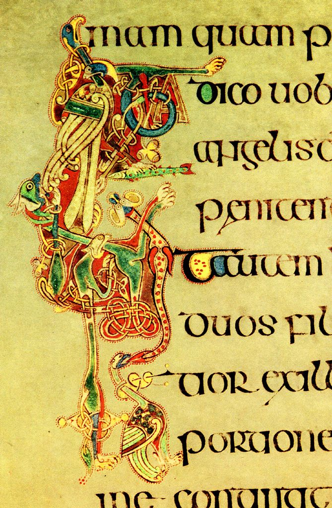 Kells 80 initial letter miniature 9th irish celtic art Ireland Dublin | by tereliyesajjan