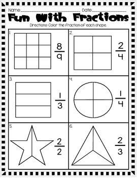 46+ Fun fraction worksheets Education
