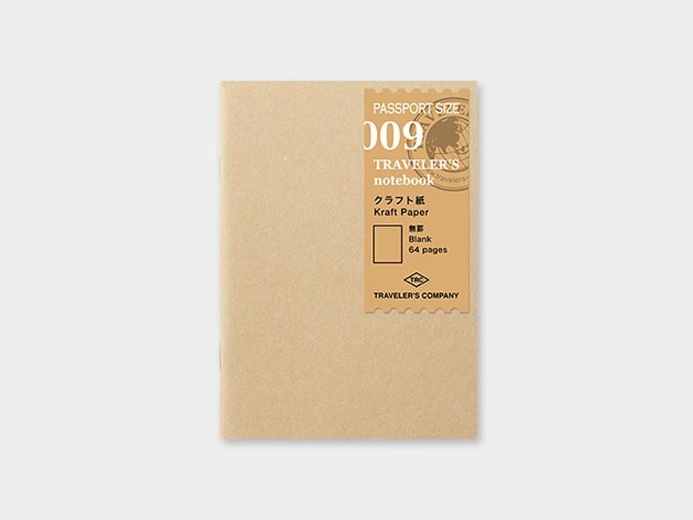 009 Kraft Paper Refill TRAVELER'S Notebook - Passport Size