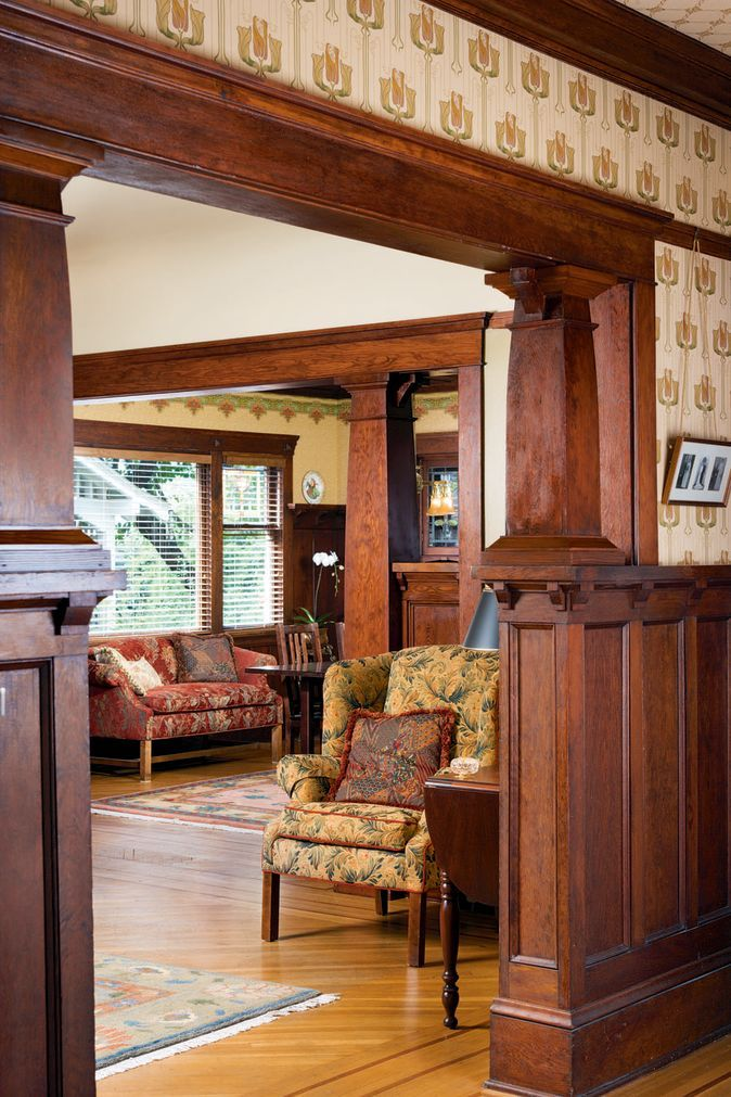 Inside A Craftsman Foursquare Old House Online