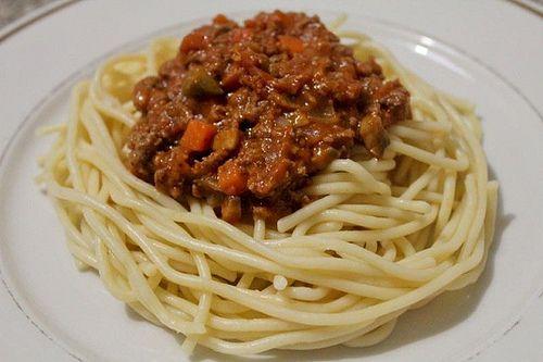 Resepi Spaghetti Bolognese Spaghetti Makanan Spageti