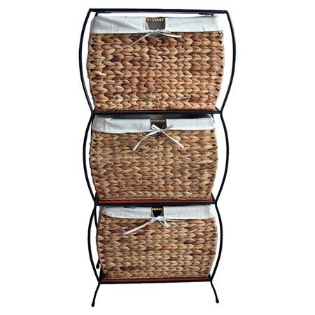 Found It At Wayfair 3 Basket File Cabinet In Seagrass Rattan Here Is One In Three So Cute Filing Cabinet Storage Baskets 4 Drawer File Cabinet