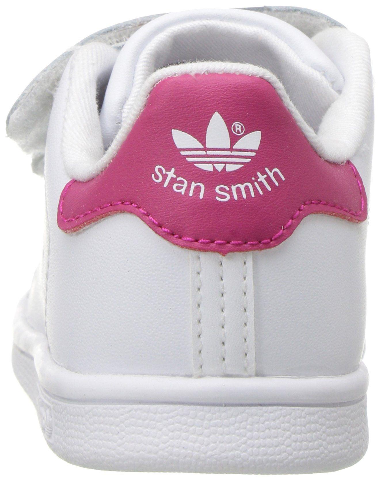 467ada9cd41d adidas Originals Girls Stan Smith CF I Running Shoe White Bold Pink 9 M US