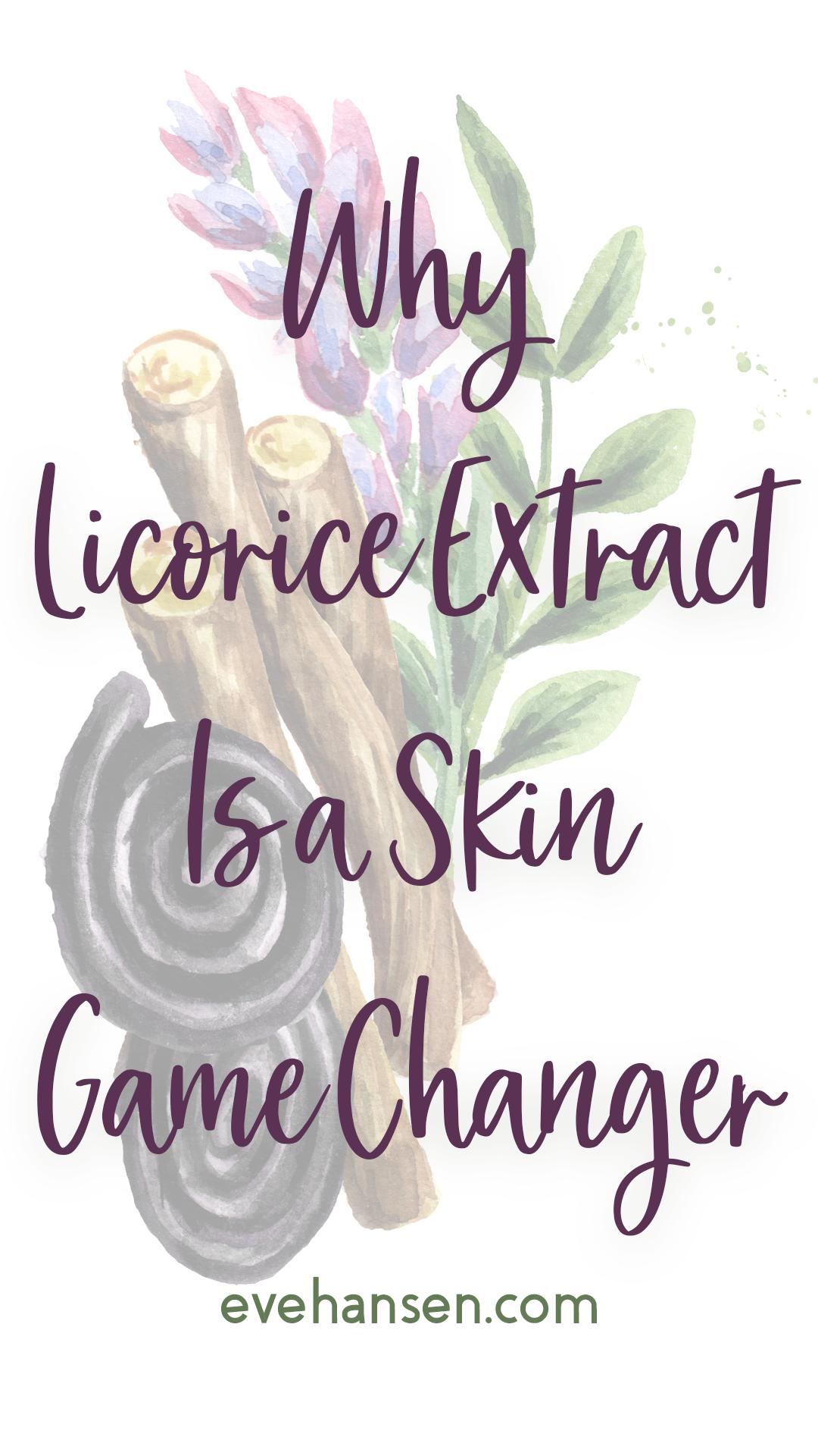 Ingredient Of The Week Organic Licorice Extract Licorice Ingredient Extract