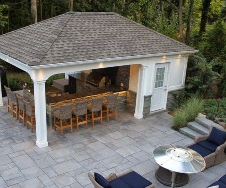 35 Lovely Outdoor Kitchen Design Ideas You Will Totally Love Page 16 Of 47 In 2020 Outdoor Kitchen Design Outdoor Kitchen Outdoor Gas Fireplace