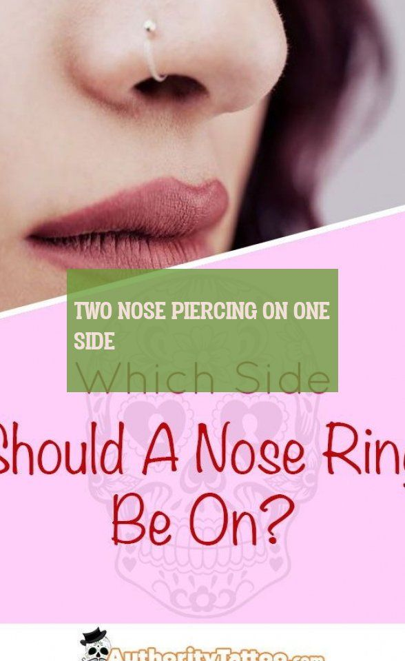 two nose piercing on one side