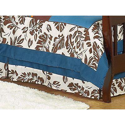 Sweet Jojo Designs Surf Blue Toddler Bed Skirt