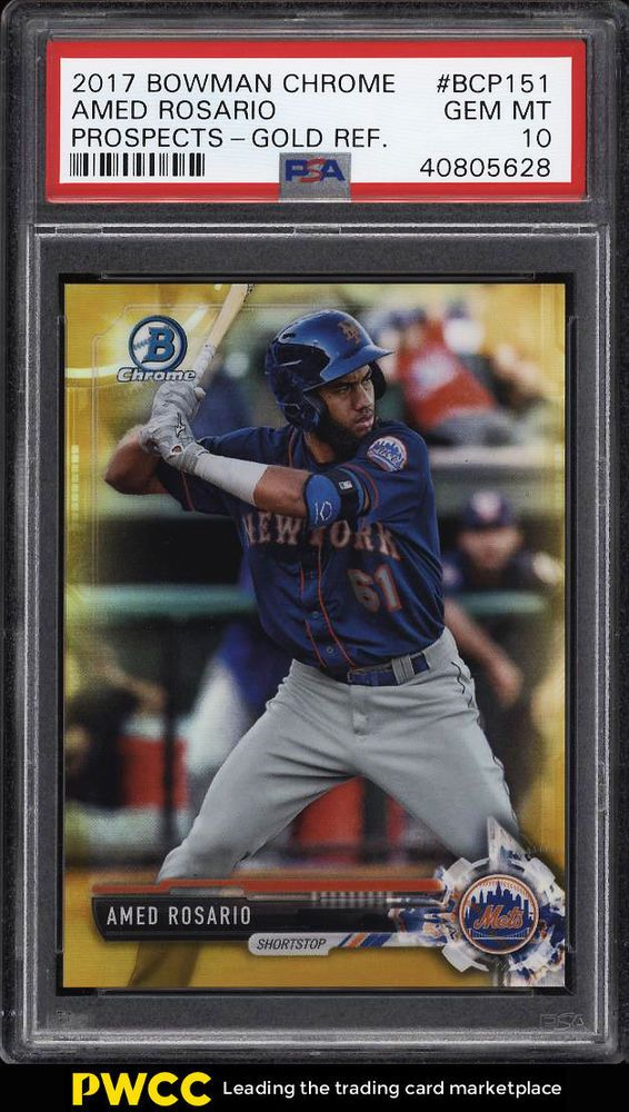 2017 Bowman Chrome Gold Refractor Amed Rosario ROOKIE RC
