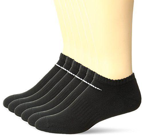 a138e8b83 NIKE Unisex Performance Cushion No-Show Meia Cotton Socks with Bag (6 Pairs)